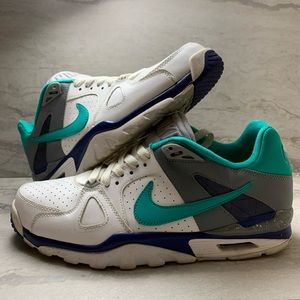 Nike air trainers teal grey Sz 8.5 WORN ONCE
